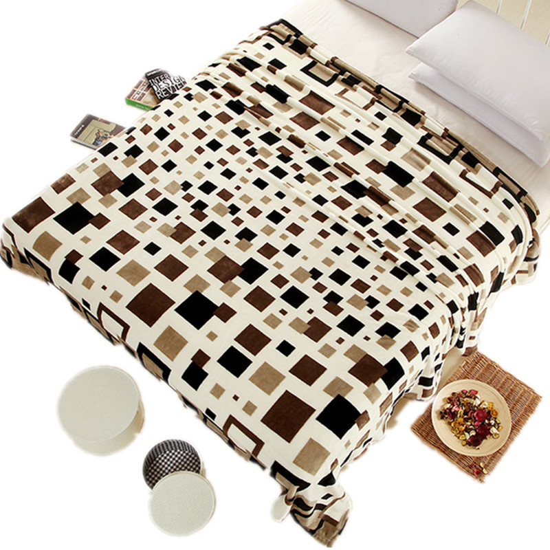 2016 New super soft air condition coral fleece flannel fabric blanket baby sofa throw font b