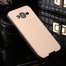 Deluxe Motomo Aluminum Metal Brush Hard Back Cover Case Samsung Galaxy J1 J3 J5 J7 2016 - Climb Electronic Technology Co., Ltd. store