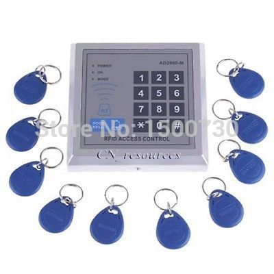 Wholesale !!!500 Users Kit Electric Door Lock Magnetic Access Control ID Card Password System(China (Mainland))