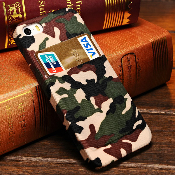 Design Army Camo Camouflage Hard Case iPhone 5 5S 5G Phone Back Cover Card Slot iPhone5 - Tomkas Official Store store