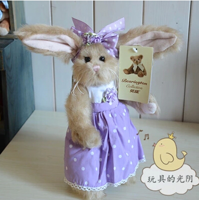 the beauty  rabbit   25cm wears purple dress high quality  plush toys  for baby Christmas  gift    yx107<br><br>Aliexpress
