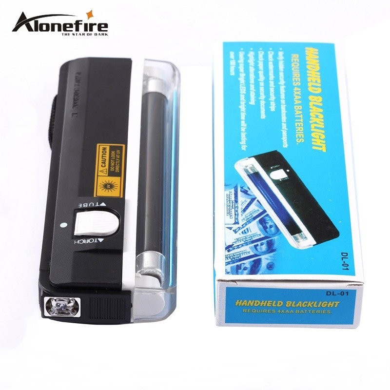 QUALITY GOODS Handheld UV Leak Detector For uv light bank note / test currency + White LED flashlight torch(China (Mainland))