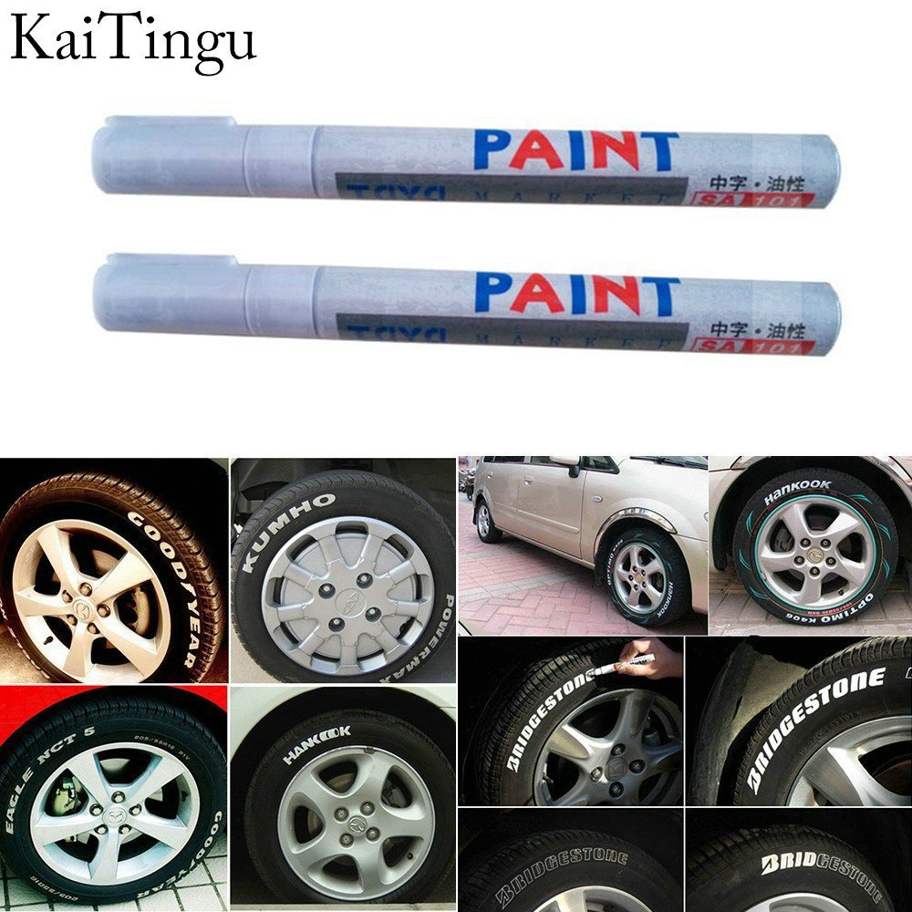 Free Shipping New 1 Pcs White Color Tyre Permanent Paint Pen Tire Metal Outdoor Marking Ink Marker Pen Creative Graffiti(China (Mainland))