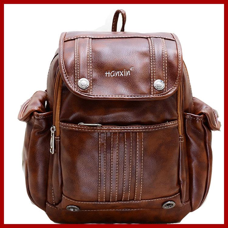 2015 new design genuine leather bag women backpack college student school bags for girls leisure backpack mochila feminina(China (Mainland))