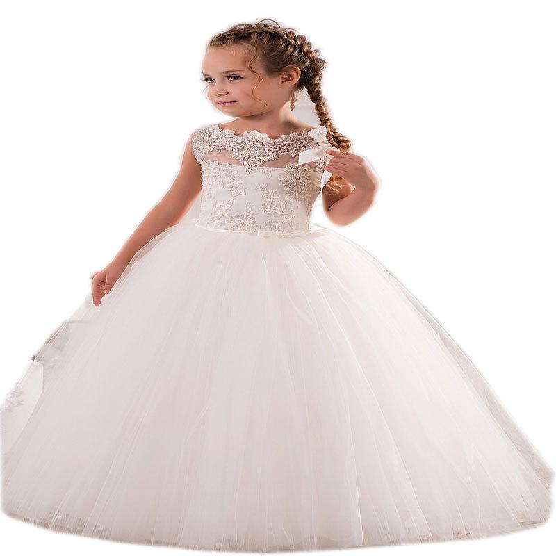 White ivory first communion dresses 2015 cute little for Wedding dresses for little girl