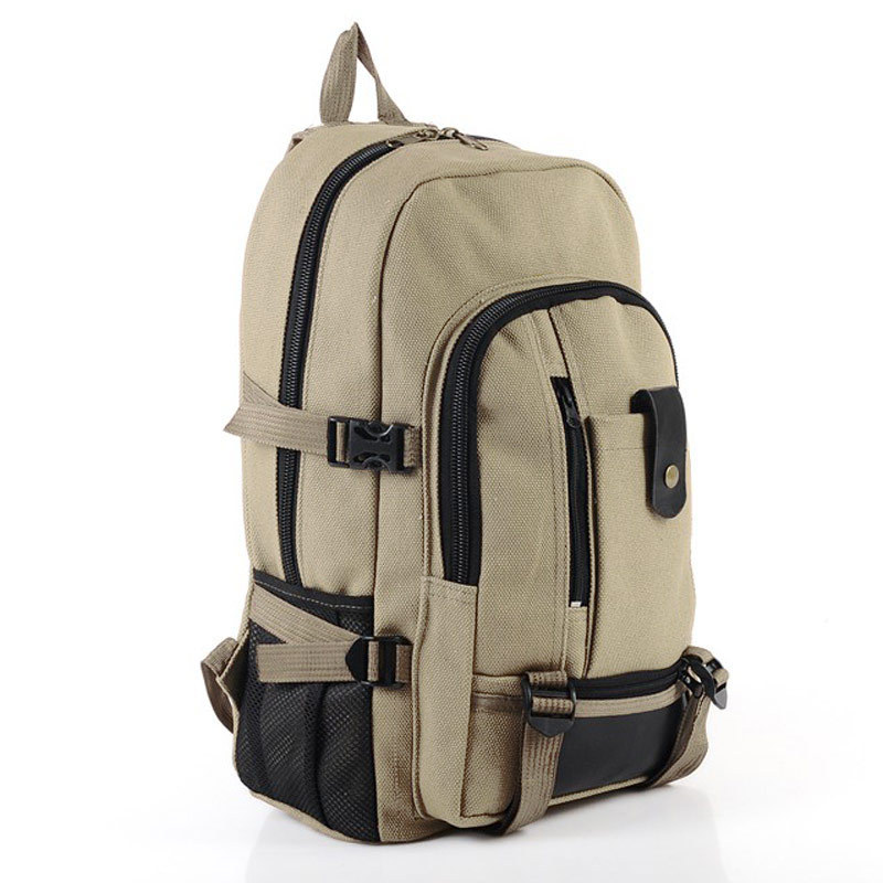 Baobao male fashionable casual canvas backpack middle school students school bag travel bag large capacity backpack man bag(China (Mainland))