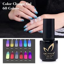 LED Long Lasting Temperature Change Nail Gel Polish 5ml UV Soak Off GEL Hot Sale Nail Art Salon MONASI(DF49~DF60)