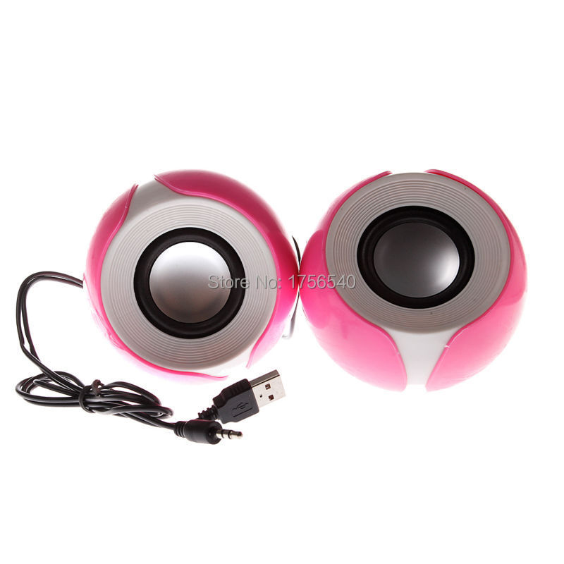 Top Selling Fashion KPSY K23 Wired Speaker Petal Shape USB Powerd For Desktop Computer Laptop PC Pink(China (Mainland))