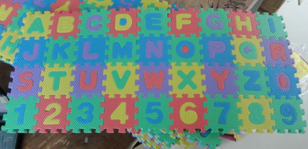 Educational Toys EVA puzzle mats children's digital jigsaw puzzle alphabet jigsaw puzzle 6 * 6H, Free Shipping!(China (Mainland))