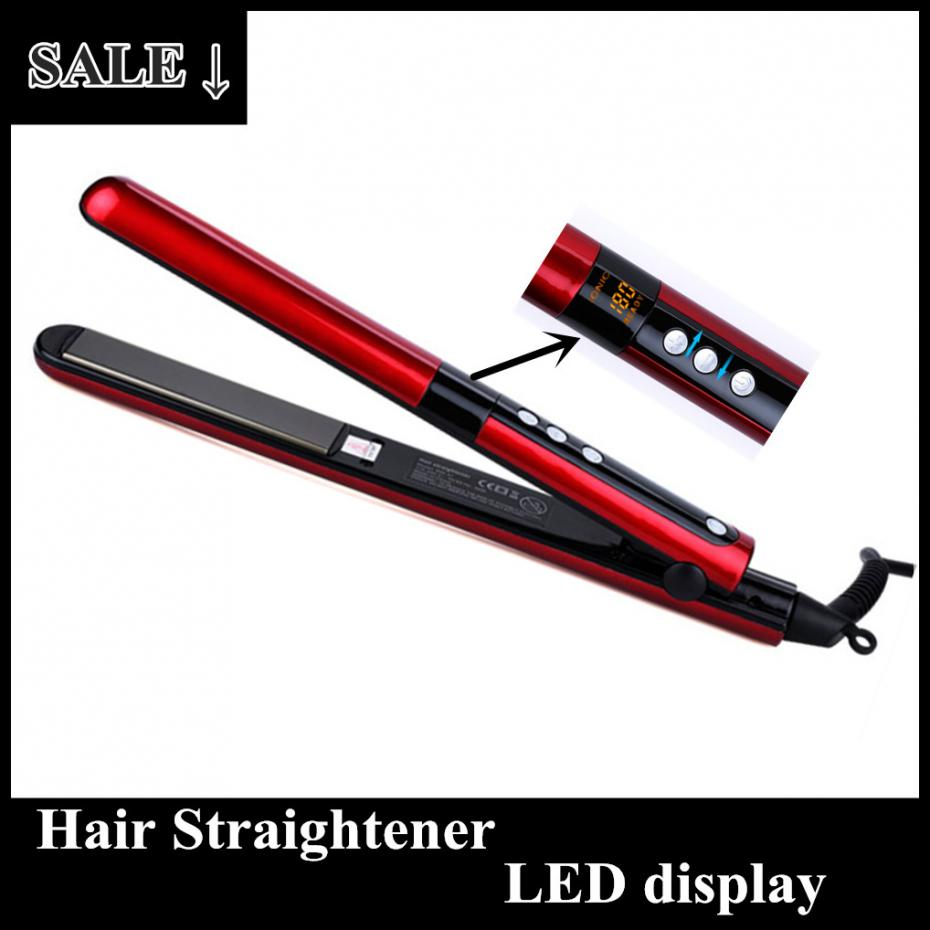 2015 Hot Roman Beauty Negative Ion Ceramic Flat Iron,led Dual Voltage Digital Display Hair Straightene Curling 2 in 1(China (Mainland))