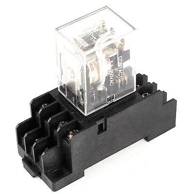 AC 250V 5A JQX-13F DC 24V Coil 3PDT 12 Pins Electromagnetic Power Relay + Socket(China (Mainland))