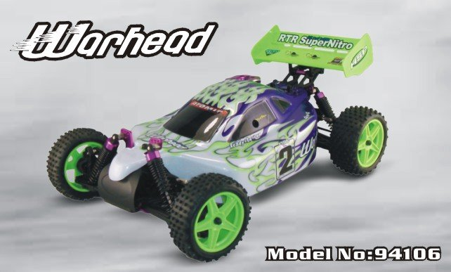 hsp nitro cars 2.4G 94106 RTR :1/10th 4WD Nitro Off-Road Buggy (Two-Speed) _18CXP_Warhead(China (Mainland))