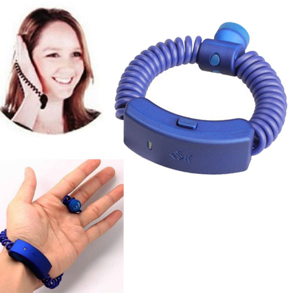 For iPhone 4/4S other Mobile  Anti-lost Incoming Call Alert Vibration Wireless Bracelet Blue Black   <br><br>Aliexpress