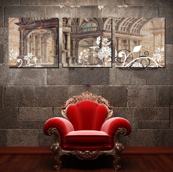3 Panel Hot Sell Modern Wall Painting Home Decorative Art Picture Paint on Canvas Prints Historical sites(China (Mainland))