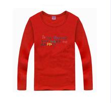 2016 fashion kids t shirts girls tees baby tops spring summer boy tshirt nova 100%cotton Letters colorful print children clothes