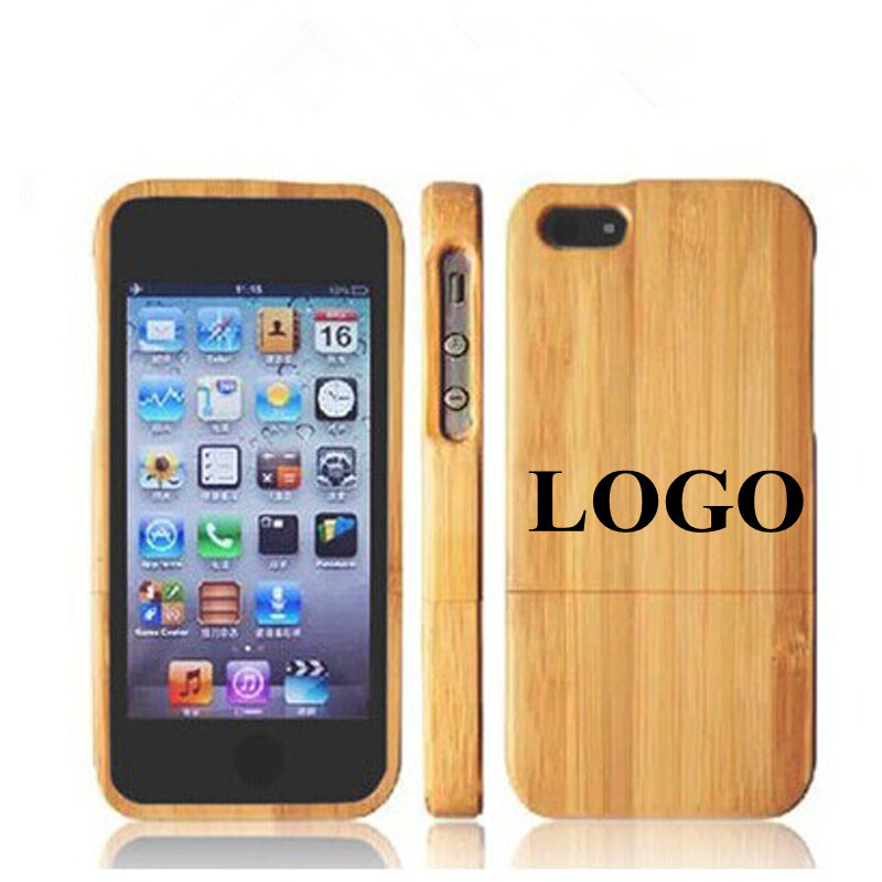 Can Custom LOGO On Case Nature Wooden Phone Cover For Apple iPhone 6 6S Plus Hard Back Solid Wooden Protection Phone Shell E006(China (Mainland))