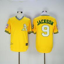 2016 Majestic Men's Yellow green Set head Jersey Flex Base On-Field Throwback Jerseys(China (Mainland))