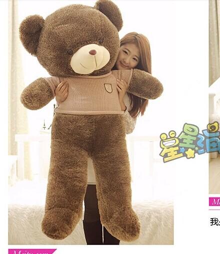 Stuffed animal 140cm khaki cloth brown Teddy bear plush toy soft doll gift w2898<br><br>Aliexpress