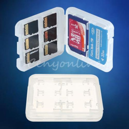 8 slots Micro SD TF SDHC MSPD Memory Card Storage Holder Carrying plastic Case(China (Mainland))