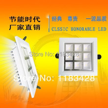 Retail Free shipping Led Recessed light Grid lamp 4W  9W 16W 25W 36W 110-240V LED lighting downlight bulb with driver(China (Mainland))