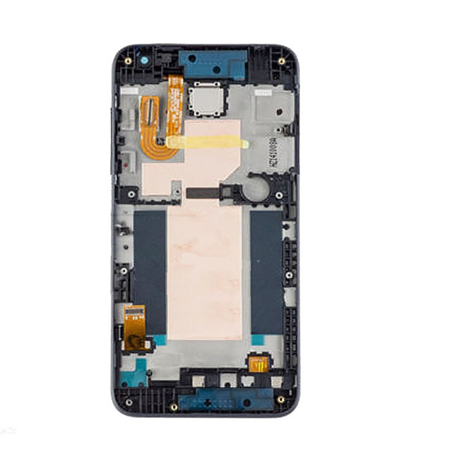 100% GOOD WORKING Blue Full LCD Display Touch Screen Digitzer Assembly With Frame For HTC Desire D610 610 With LOGO Replacement(China (Mainland))