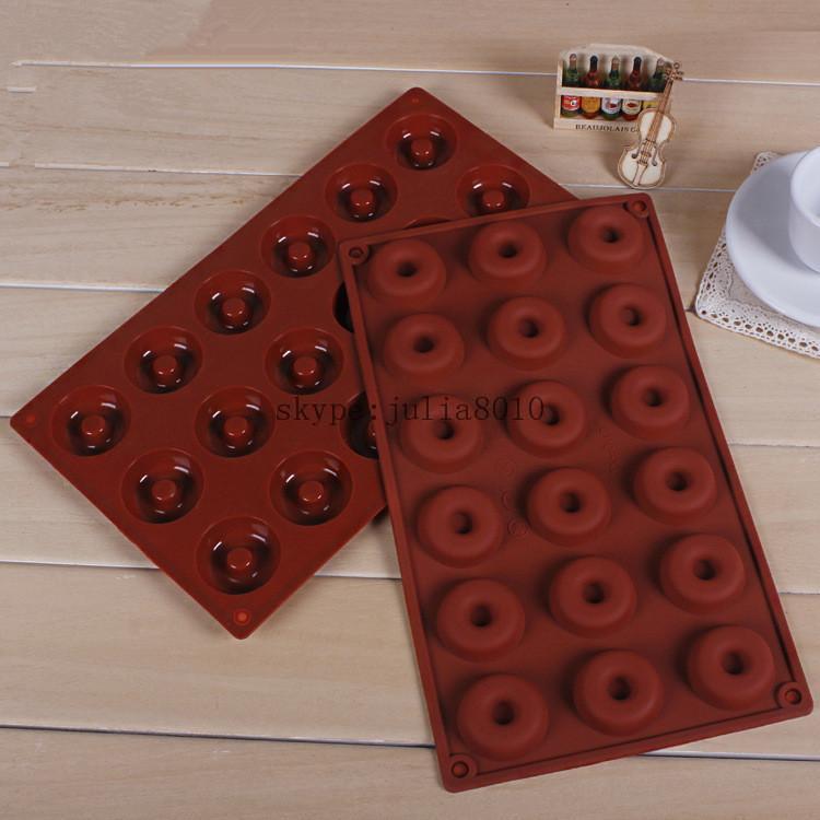 silikon bakeware formen 18 mini donuts schokoladenform. Black Bedroom Furniture Sets. Home Design Ideas