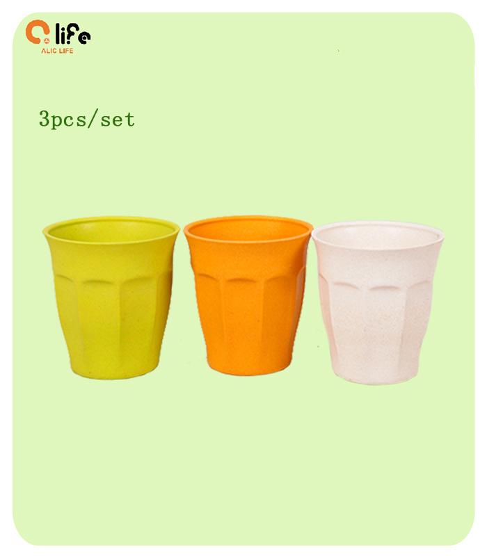 Promotion! 3pcs/set Healthy Bamboo Fiber Mugs Drinkware Eco Friendly Eco Cup Travel Cups and Mugs Coffee Tea Cup Mugs(China (Mainland))