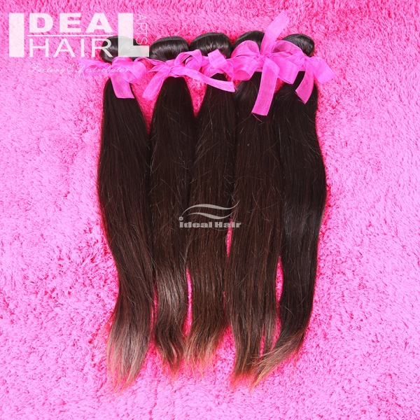 Ideal Hair Arts Straight 5A Peruvian virgin hair tangle&amp;shed free human hair weave 12-26inch mixed length hair extension<br><br>Aliexpress