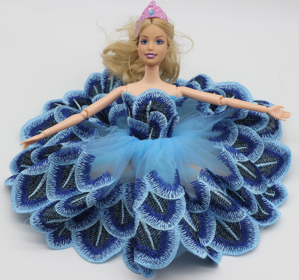 1 Items Tutu Ballerina Skirt For Barbie Doll quick Mini wedding ceremony gown free transport