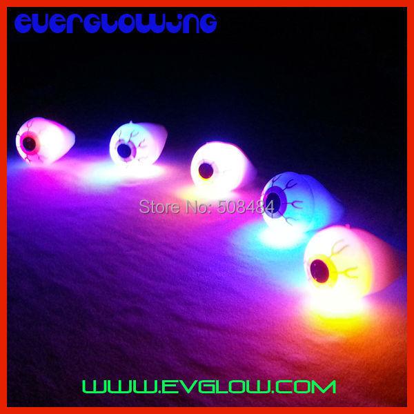 Free Shipping 1152pcs/lot 3*3*4.5cm LED flashing big eye ring flash finger ring LED ring for Christmas party halloween(China (Mainland))