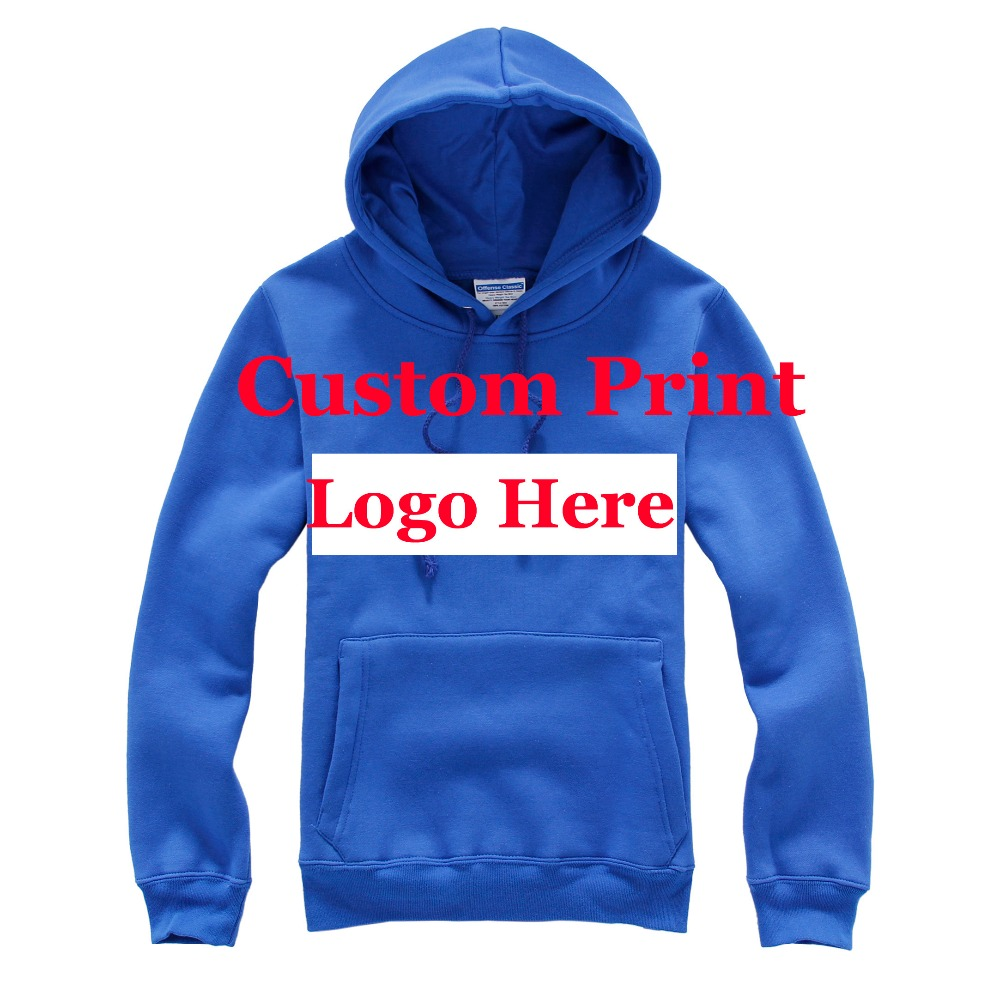 printed logo on the blank hoodies custom own logo hoodie screen printing customized logo mens weater long sleeve! pulloverОдежда и ак�е��уары<br><br><br>Aliexpress