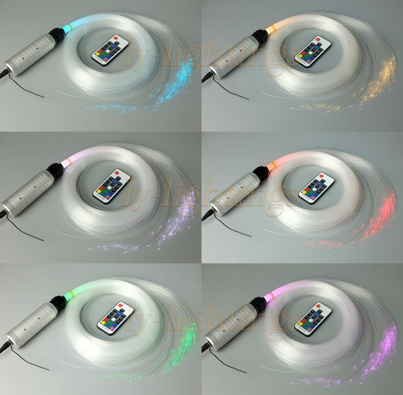 DIY home decoration fiber optic light kit optical fiber lamp RGB bedroom dining room ceiling light stars night light 150x5m(China (Mainland))