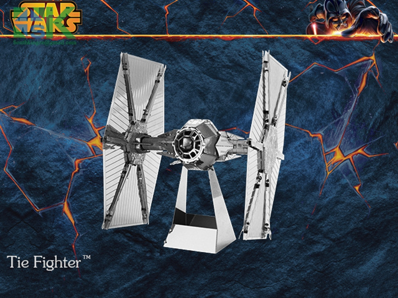 Funny Puzzle 3D metal model Tie Fighter Star Wars 3D puzzle Wholesale price Stainless steel Etching Children's g(China (Mainland))