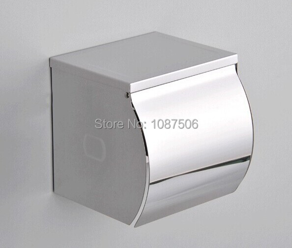 Free shipping luxury 304 stainless steel bathroom wall for Bathroom napkin holder