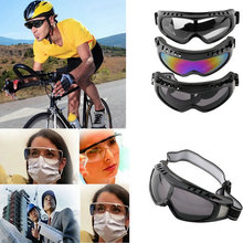 Outdoor Dust-Proof Ski Goggles Tactical Paintball Clear Glasses Wind Dust Motorcycle Protection(China (Mainland))