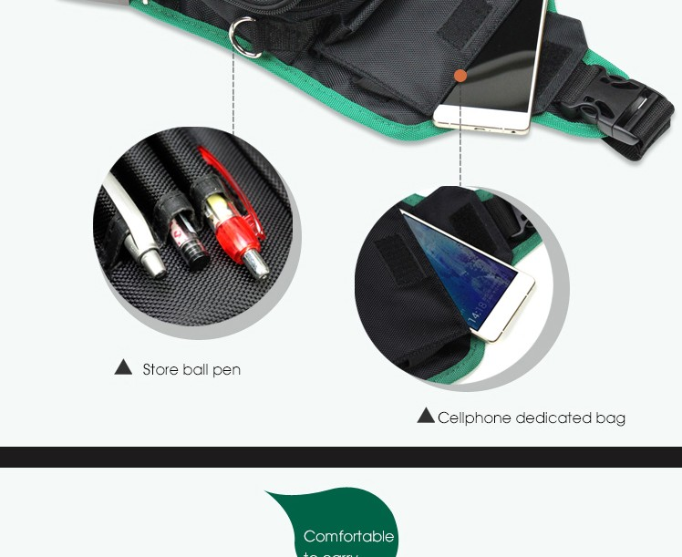 LAOA Multifunction Messenger Bag Cross Body Electrician Hardware Mechanic\`s Canvas Tool Bags For Store Tools
