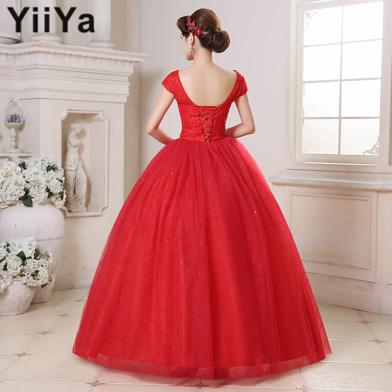 Plus size red lace wedding dress the for Red wedding dresses cheap