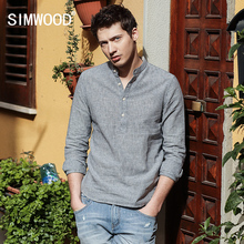 Buy SIMWOOD 2017 Spring New Arrival Striped Casual Shirts Men Mandarin Collar Cotton Linen Slim Fit Brand Clothing CS1602 for $25.49 in AliExpress store