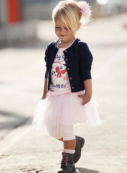 Girls' Suits Girl's 3 pieces suits Girl's Cardigan outerwear+ short sleeve printing T-shirt + Tutu dress skirt