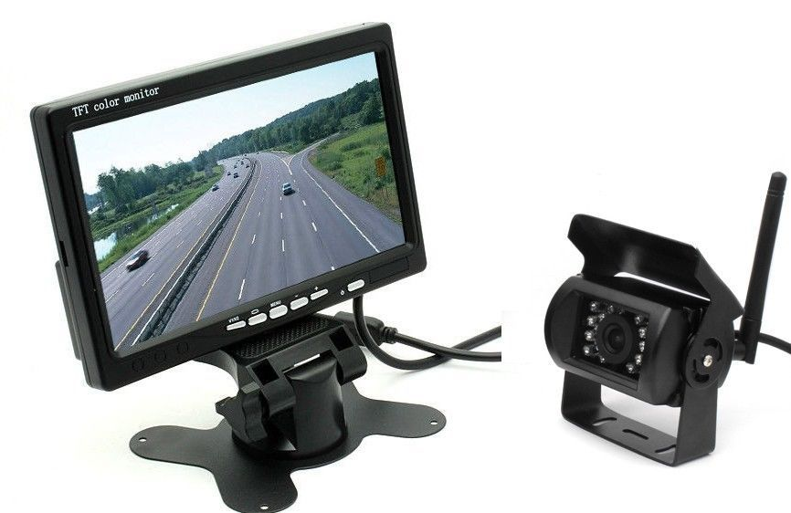Free shipping DIY 2 4G Wireless HD 7 Monitor RX TX IR Rearview Camera kit For