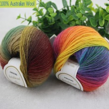 500g/lot luxury quality 100% wool yarns fancy iceland thick Hand knitting for yarn colorful knit yarn dye wool sweater knitwear(China (Mainland))