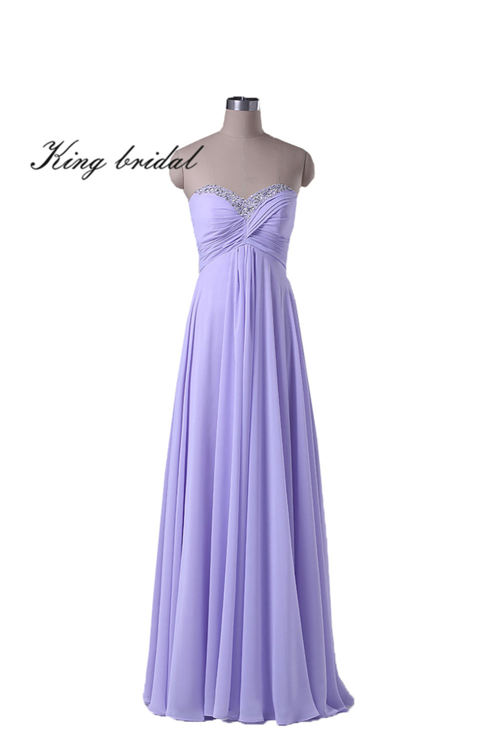 2017 Elegant Sweetheart Beaded Pleated Long Chiffon Evening Dresses Sexy Coral White Lavender Prom Gowns Cheap Formal Dress New(China (Mainland))