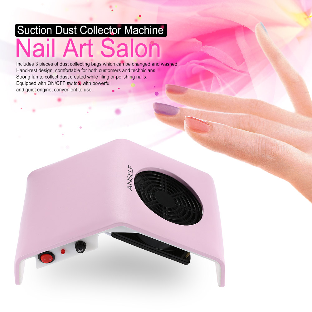 Professional Suction Nail Dust Collector Machine 220V/110V 30W Nail Dust Collector Nail Art Salon Tool Vacuum Cleaner(China (Mainland))