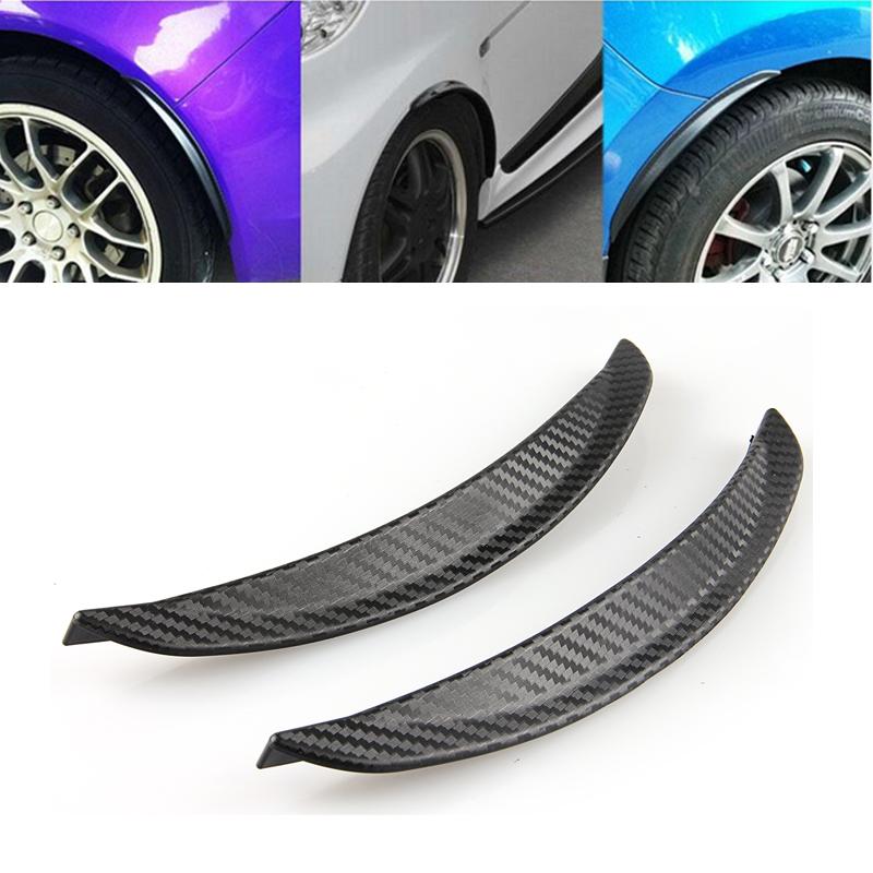 1 Pair Carbon Fiber Black Wheels Lip Fender Flares Auto Car Protect Decoration Strip #2 Mudguards Mud Guard(China (Mainland))