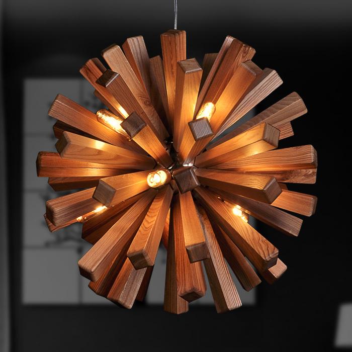 lustre de salon en bois id es novatrices de la. Black Bedroom Furniture Sets. Home Design Ideas