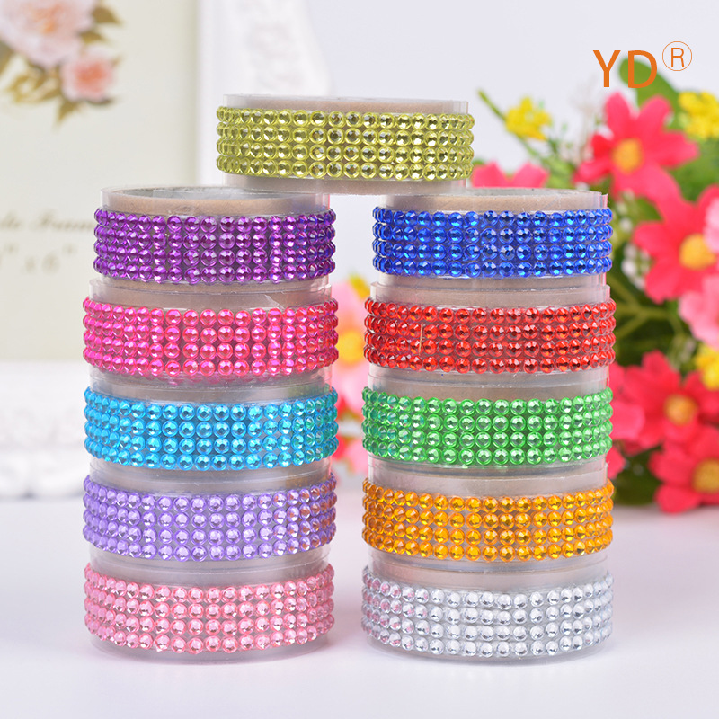 Creative DIY Diamond Style Decoration Tape Cute Masking Tape For Scrapbooking Designer Korean Stationery Gift Free Shipping 939<br><br>Aliexpress