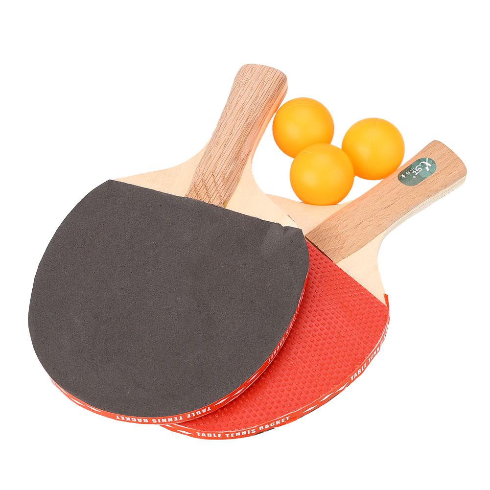 Table Tennis Racket Professional Ping Pong Paddle Bat With 3 Balls Sports Training(China (Mainland))