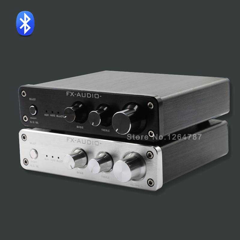 Фотография FX-Audio XL-2.1BL High Power 2.1 Channel Bluetooth@4.0 Digital Audio Subwoofer Amplifier Input RCA/AUX/BT 50W*2+100W SW Out