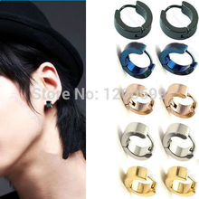 C18 hot-selling 1Pair Fashion Punk Boys Mens Stainless Steel Studs Jewelry free shipping(China (Mainland))