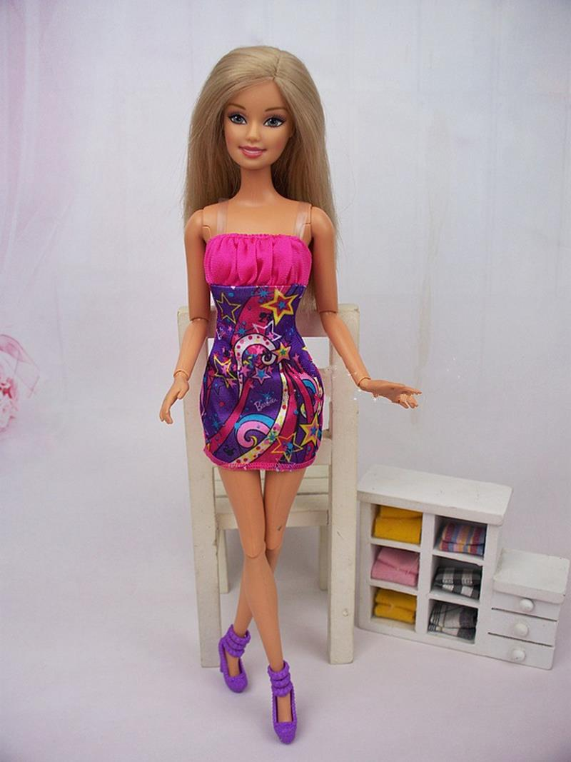 Doll Equipment Becoming Costume Garments For Barbie Doll Home Costume Horny Quick Attire Vestidos for Barbie Doll
